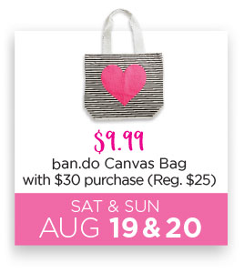 ban.do Canvas tote bag $9.99 with $40 purchase