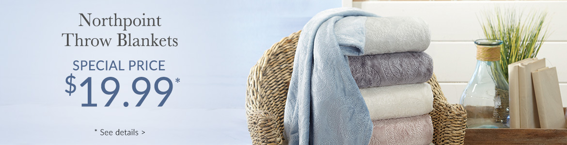 Luxury throw blankets now $19.99*