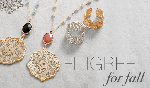 Shop Filigree for Fall Jewelry