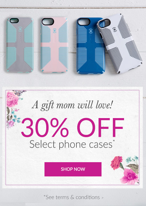 30% off select phone cases*