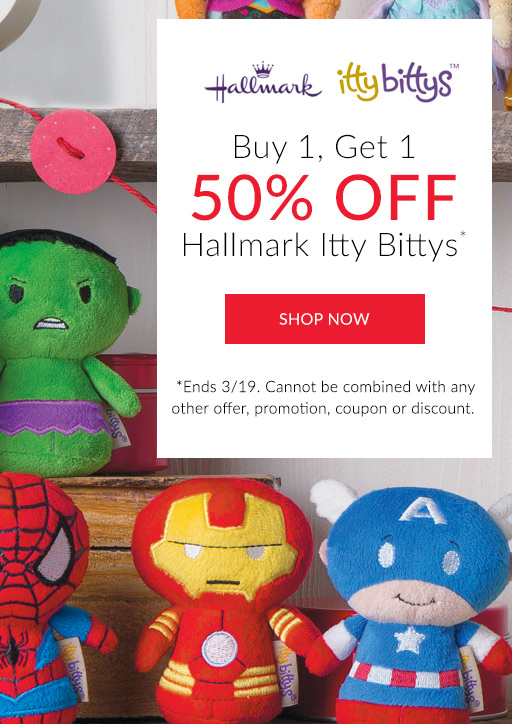 Buy 1, get 1 50% off Itty Bittys*