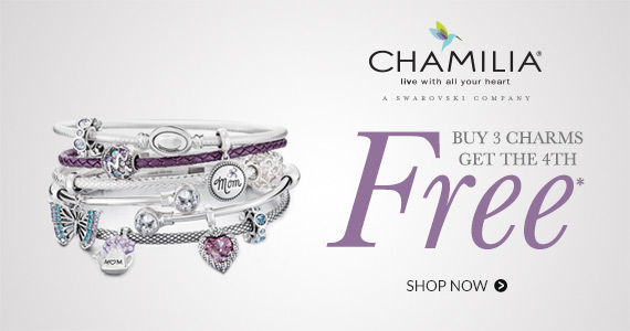 Buy 3, get 4th free Chamilia charms*