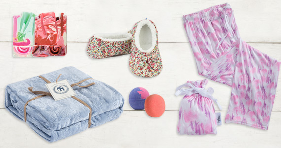 Shop Blankets, Pajamas, Bath Bombs and more!
