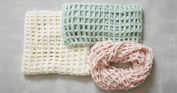 Open Weave Infinity Scarves Special Price $7.99