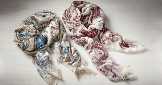Noelle Paisley Scarves now $9.99