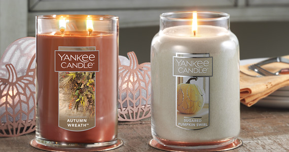 Yankee Candle Large Jars and 2-Wick Tumblers now $19.99