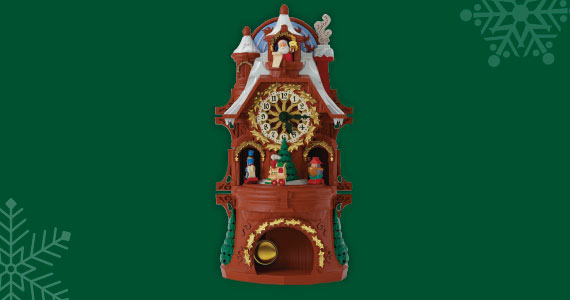 $5 off Santa's Musical Christmas Clock With Motion and Light
