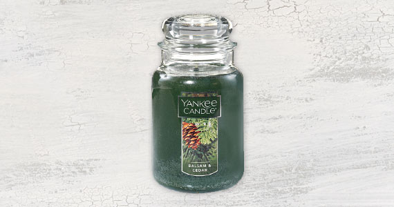 $5 off Yankee Candle Balsam and Cedar Large Jar