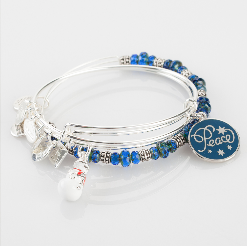 Alex and Ani Winter Wonder Expandable Wire Bangle Stack