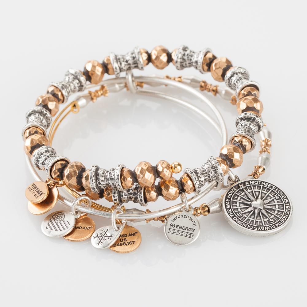 Alex and Ani Mother's Guidance Expandable Wire Bangle Stack
