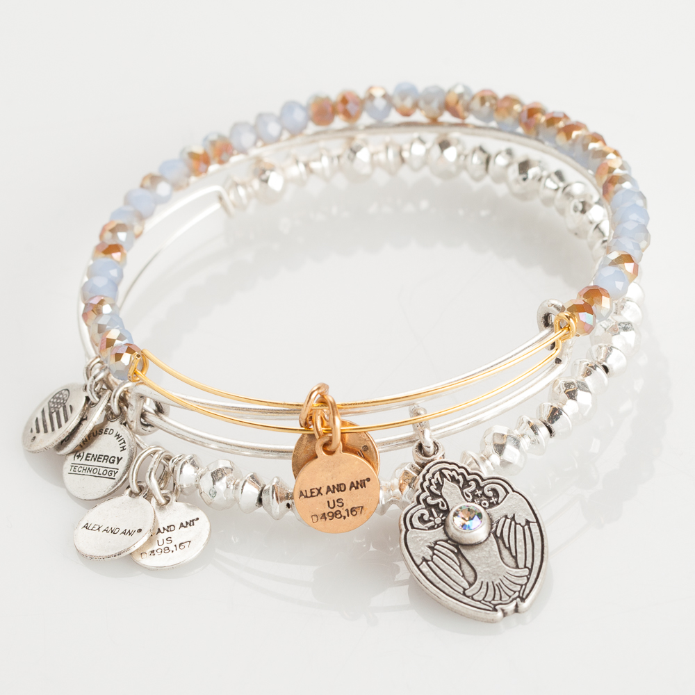 Alex and Ani Divine Grace Expandable Wire Bangle Stack
