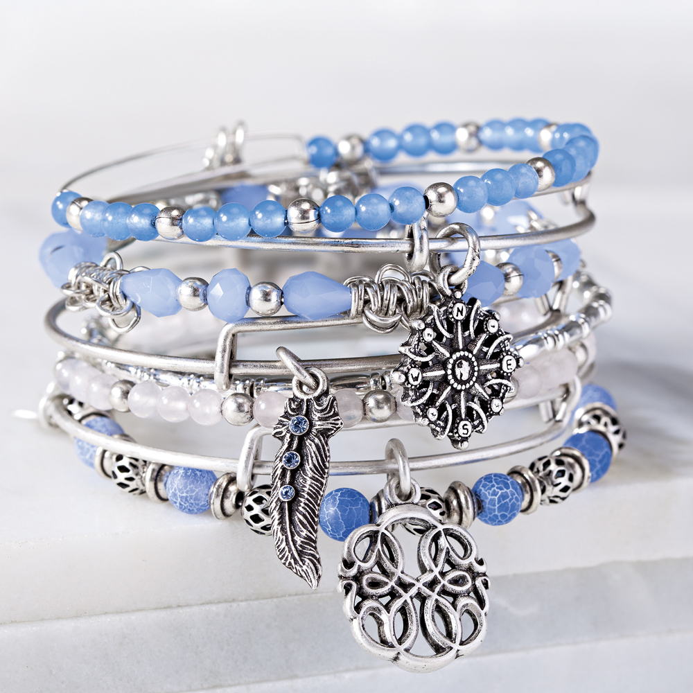 Alex and Ani Alex and Ani Blue Stack