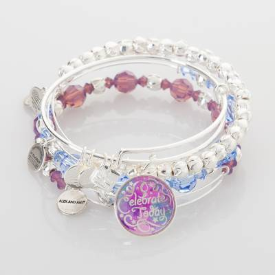 Celebrate Today with Passion Expandable Wire Bangle Stack