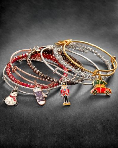 Symbols of the Season Bangle Stack