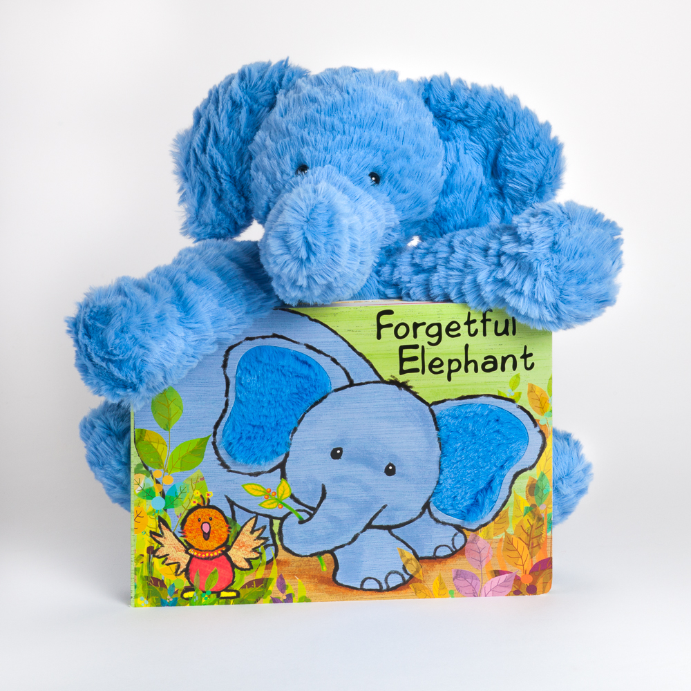 Jellycat Fuddlewuddle Elephant Plush and Forgetful Elephant Book