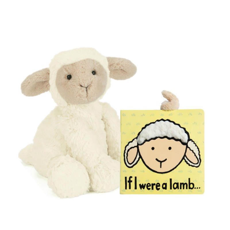 Jellycat Fuddlewuddle Lamb Plush & If I Were a Lamb Book