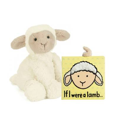 Fuddlewuddle Lamb Plush & If I Were a Lamb Book