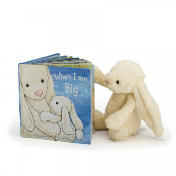 Jellycat When I Am Big Book & Bashful Cream Bunny Plush (Small)