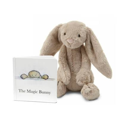 The Magic Bunny Book & Bashful Beige Bunny Plush (Medium)
