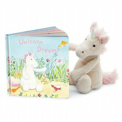 Unicorn Dreams Board Book & Unicorn Plush