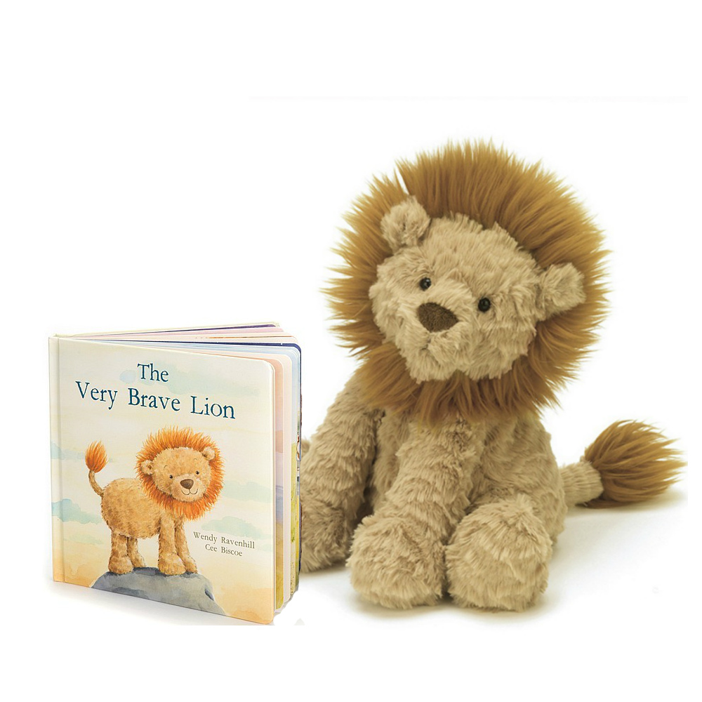 Jellycat The Very Brave Lion Book & Fuddlewuddle Lion Plush