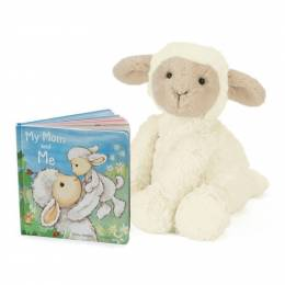 Jellycat My Mom and Me Book & Fuddlewuddle Lamb Plush