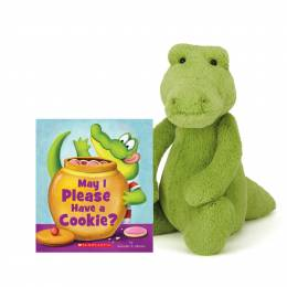 Jellycat May I Please Have a Cookie Book & Bashful Croc Plush