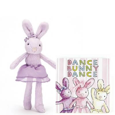 Dance Bunny Dance Book & Tutu Lulu Purple Bunny Plush