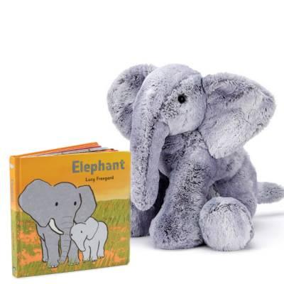 Elephant Book & Plush