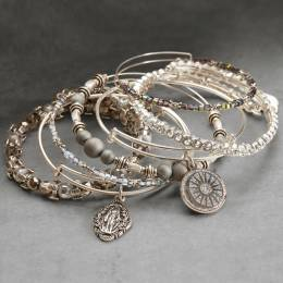Alex and Ani Divine Wonder Silver Stack