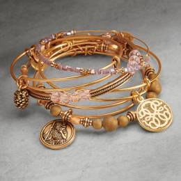 Alex and Ani Miraculous Journey Gold Stack