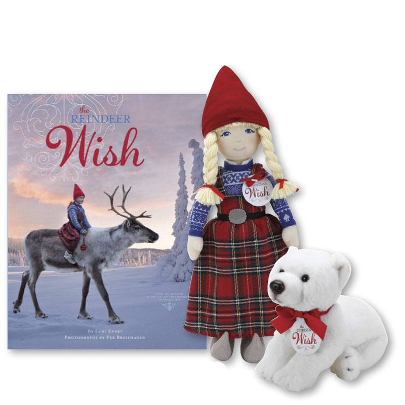 The Reindeer Wish Book and Plush