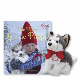 The Brave Little Puppy Book and Plush