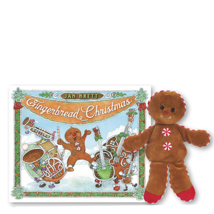 Gingerbread Christmas Book and Plush