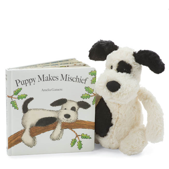 Puppy Makes Mischief Book and Bashful Plush