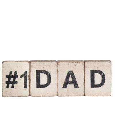 #1 Dad Reclaimed Wood Block Bundle