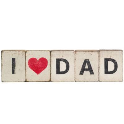 I Heart Dad Reclaimed Wood Block Bundle
