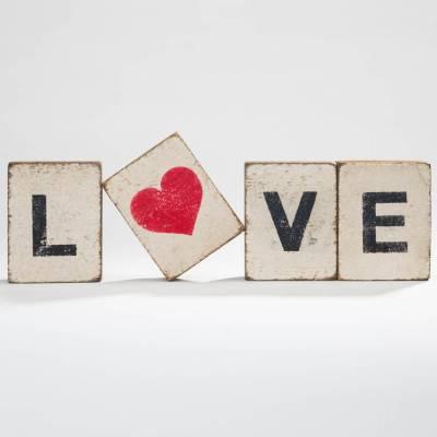 Love Reclaimed Wood Block Bundle