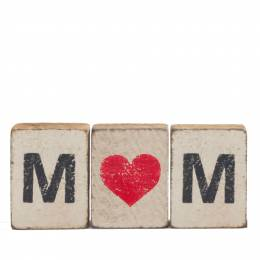 Rustic Marlin Mom Heart Reclaimed Wood Block Bundle