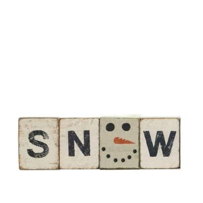 Snow Reclaimed Wood Block Bundle